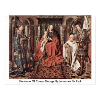 Madonna Of Canon George By Johannes De Eyck Postcard
