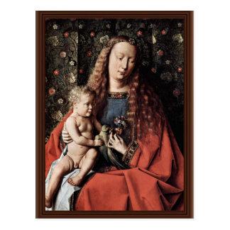 Madonna Of Canon George Van Der Paele  By Eyck Jan Post Card