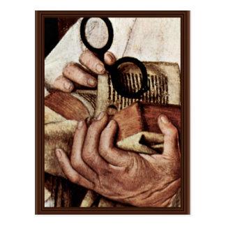 Madonna Of Canon George Van Der Paele Details: Bib Postcards