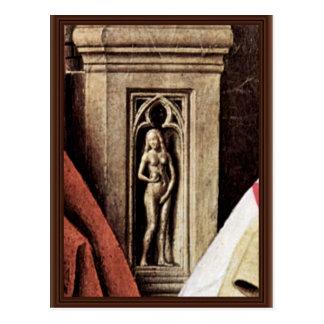 Madonna Of Canon George Van Der Paele Details: Eva Post Cards