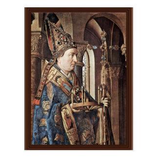 Madonna Of Canon George Van Der Paele Details: The Postcard