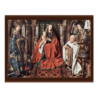 Madonna Of Canon George Van Der Paele With St. Dom Post Card