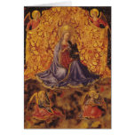 Madonna of Humility with Christ Child and Angels Greeting Card