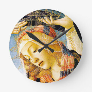 Madonna of Magnificat - Botticelli - Catholic gift Round Clock