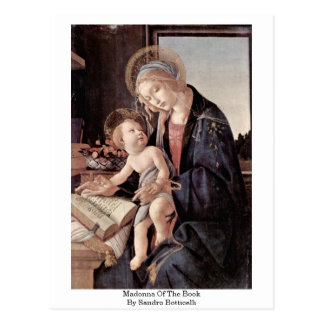 Madonna Of The Book By Sandro Botticelli Postcard