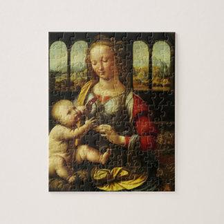 Madonna of the Carnation by Leonardo da Vinci Jigsaw Puzzle