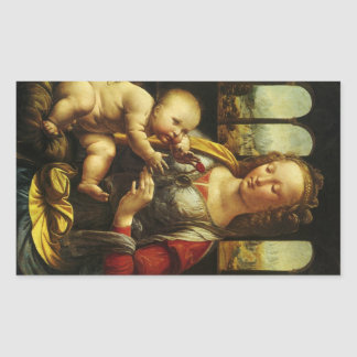 Madonna of the Carnation by Leonardo da Vinci Sticker