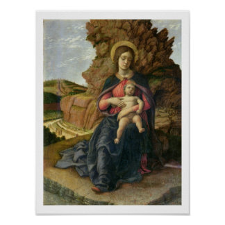 Madonna of the Cave, 1488-90 (tempera on panel) Poster
