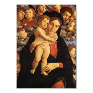 Madonna of the Cherubim by Andrea Mantegna Card