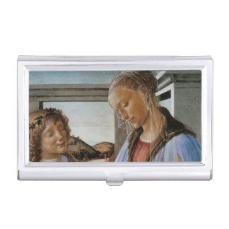 Madonna of the Eucharist by Botticelli Business Card Holder