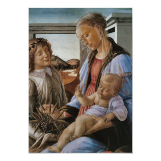 Madonna of the Eucharist by Botticelli Card