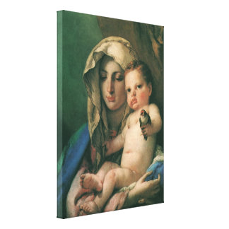 Madonna of the Goldfinch by Tiepolo, Vintage Art Canvas Print
