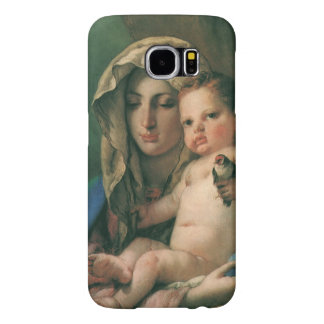 Madonna of the Goldfinch by Tiepolo, Vintage Art Samsung Galaxy S6 Cases