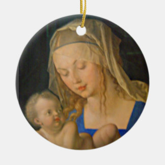 Madonna of the Pear Ceramic Ornament