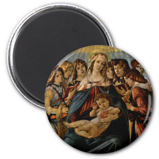Madonna of the Pomegranate - Botticelli 2 Inch Round Magnet