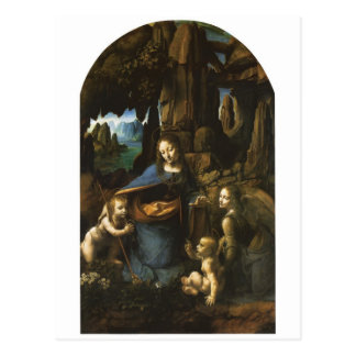 Madonna of the Rocks by Leonardo da Vinci c.1483 Postcard
