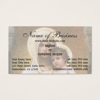 Madonna of the Roses by William Adolphe Bouguereau Business Card