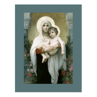 Madonna of the Roses Postcard