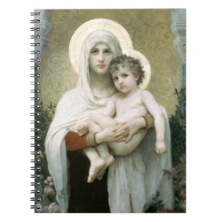 Madonna of the Roses Spiral Note Book