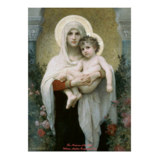 Madonna of the Roses - William-Adolphe Bouguereau Poster