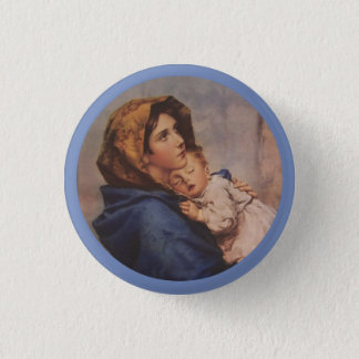 Madonna of the Street with Baby Jesus 1 Inch Round Button