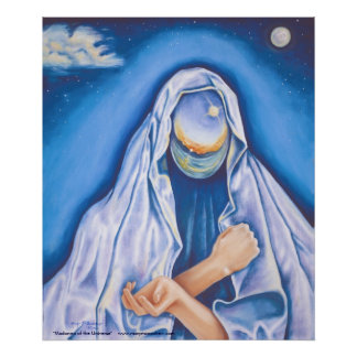 """Madonna of the Universe"" Spiritual Poster / Print"