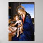 Madonna teaches the child Jesus Sandro Botticelli Poster