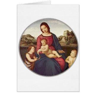 Madonna Terranuova by Raphael Card