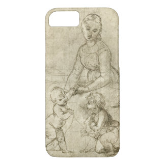 Madonna w Christ & St. John the Baptist by Rapahel iPhone 7 Case