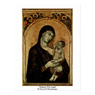 Madonna With Angels By Duccio Di Buoninsegna Postcard