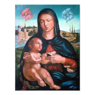 Madonna with Cherubs Photographic Print
