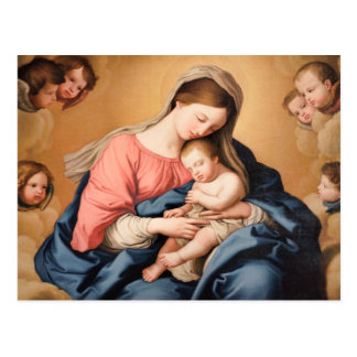 Madonna with Child and Angels Postcard