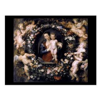 Madonna With Child by Rubens Postcard