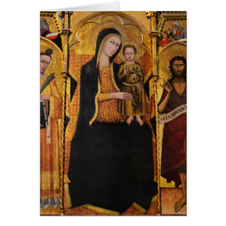 Madonna with Child Siena Italy Card