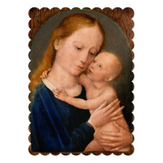 "Madonna with Christ Child 5"" X 7"" Invitation Card"