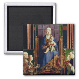Madonna with Saint Nicholas of Bari Magnet