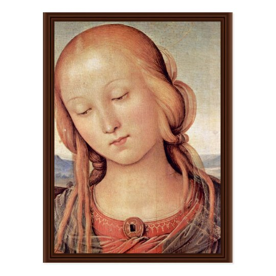 Madonna With St. John The Baptist  By Perugino Postcard