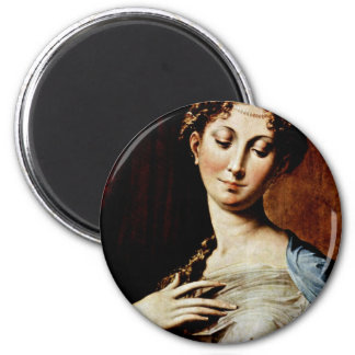 Madonna With The Long Neck  By Parmigianino Magnet