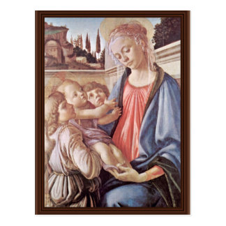 Madonna With Two Angels, By Sandro Botticelli Postcard