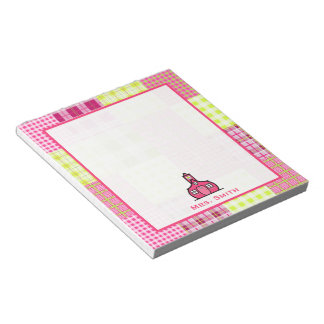 Madras Inspired Plaid Teacher Notepad