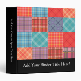 Madras Patchwork Vinyl Binder