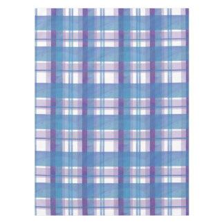 Madras Plaid Blue and Purple Tablecloth