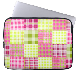 Madras Plaid Inspired Electronics Bag