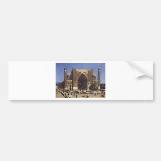 Madrasah de Shir Dor dans le carré de Registan à Autocollant De Voiture