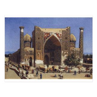 Madrasah de Shir Dor dans le carré de Registan à Cartes Postales