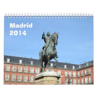 Madrid 2014 wall Calendar