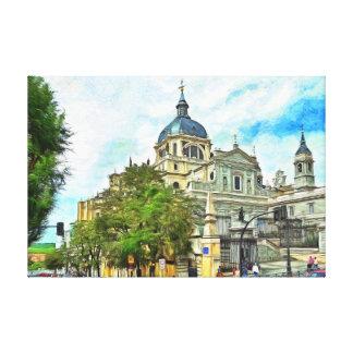 Madrid.Almudena Cathedral. Canvas Print
