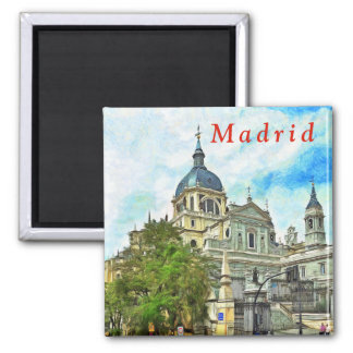 Madrid. Almudena Cathedral. Magnet