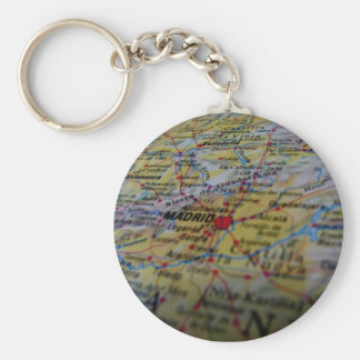 Madrid Basic Round Button Keychain