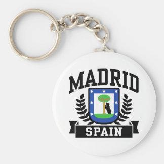 Madrid Basic Round Button Keychain